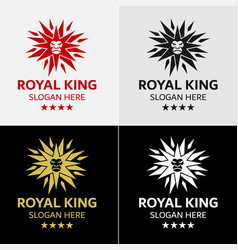 lion king star logo template vector image
