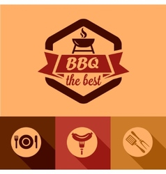 Bbq design elements vector