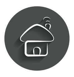 Home sign icon main page button navigation vector
