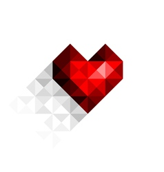 Heart with shadow vector