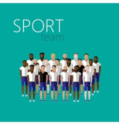 Flat with men group or community wearing sport vector