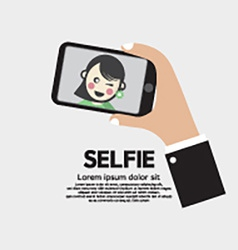Selfie by phone lifestyle with technology vector