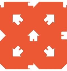 Orange home pattern vector