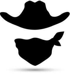Cowboy icon isolated on white vector