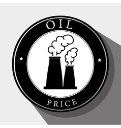 Petroleum industry and oil prices vector