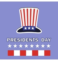 Presidents day icon vector