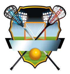 Lacrosse badge vector