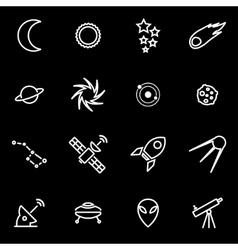 line space icon set vector image