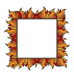 Squared frame with spurts of flame vector