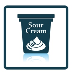 Sour cream icon vector