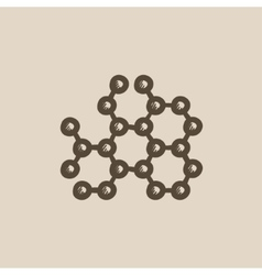 Molecule sketch icon vector