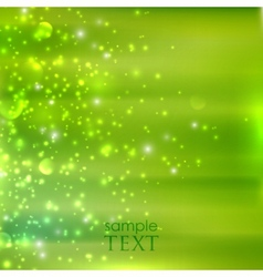 abstract green background with sparkles vector image