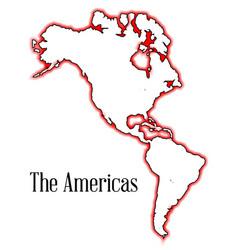 americas vector image