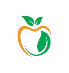 apple leaf eco logo vector image vector image
