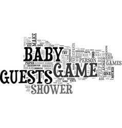baby shower game ideas text word cloud concept vector image