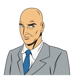 Bald man with jacket and tie vector
