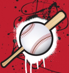 baseball splat vector image