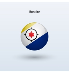 Bonaire round flag vector image vector image