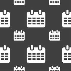 Calendar date or event reminder icon sign seamless vector