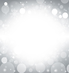 Christmas and winter background - silver vector