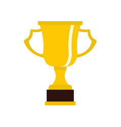 cup for win icon flat style vector image vector image
