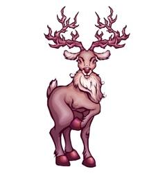 deer in cartoon style vector image vector image