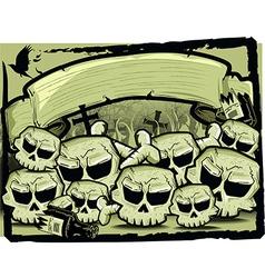 Detailed cartoon skull vector image vector image