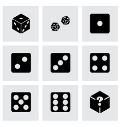 dice icon set vector image vector image