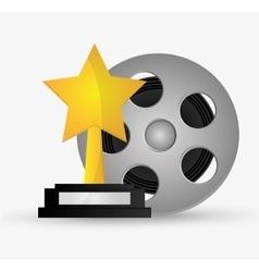 Film reel cinema and movie design vector