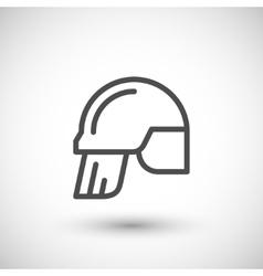 Fireman helmet line icon vector