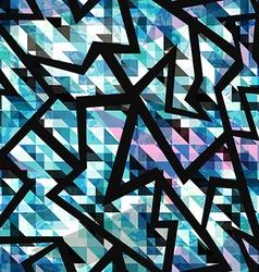 grunge mosaic geometric seamless pattern vector image