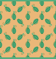 Hand grenade bomb explosion weapons seamless vector
