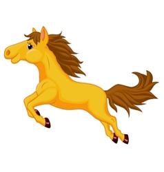 Horse cartoon jumping vector image