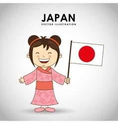 Japanese kid vector