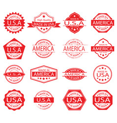 Made in america label set 02 vector