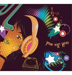 Popart concert poster vector
