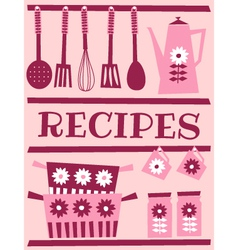 Recipe card design vector