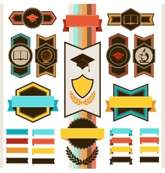 School education badges and ribbons vector