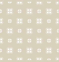 seamless abstract geometric floral beige pattern vector image