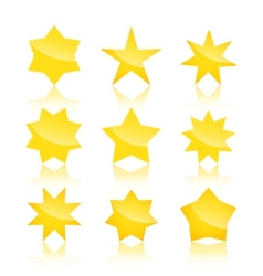 Set of star icons isolated on white background vector