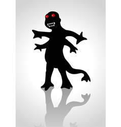 Silhouette of a strange creature vector image vector image