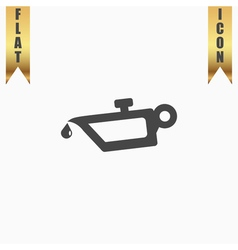 simple engine oil icon vector image vector image
