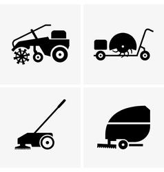 Sweeper machines vector image vector image