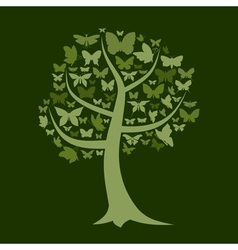 Tree the butterfly vector image vector image