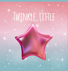 Twinkle little star on night sky background vector