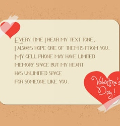 valentine greeting poster card vector image vector image