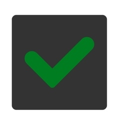 Yes flat green and gray colors rounded button vector image