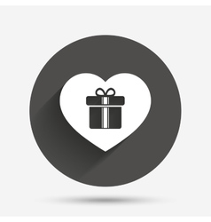 Gift box sign icon love present symbol vector
