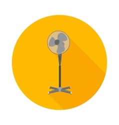 flat icon electric fan vector image
