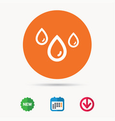 water drop icon rainy weather sign vector image